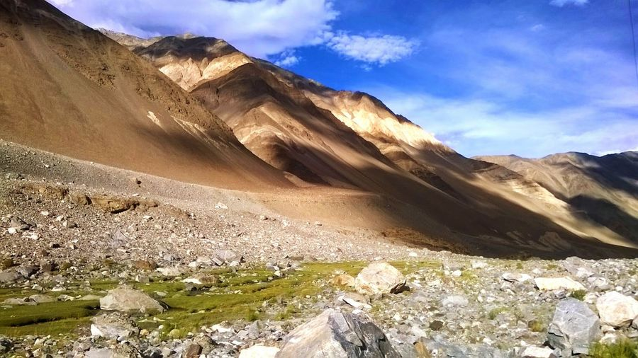 Desert Sand Sky Landscape Sand Dune Arid Climate Outdoors Nature Cloud - Sky Day My Year My View Mountains And Valleys Colors Roadtrip Incredible India Tranquility Ladakh Mountain Range Cloud Shadows Breathtaking Panorama View Scenic View Beauty In Nature Absolutely Incredible No Filter No Edit Miles Away