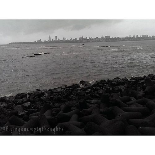 •Down By The Seaside• Mumbai Vscocam Fontstudio Seinfeld MyMumbai nofilter sea peace serenity mumbai_uncensored photooftheday