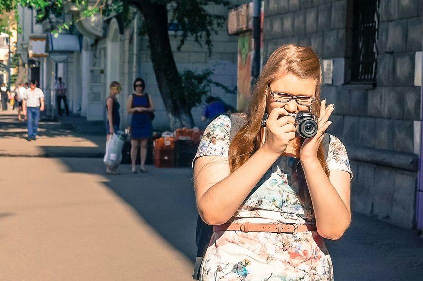 Girl Camera Glases Street EEA3 EEA3 - Novokuznetsk Novokuznetsk Kuzbass Siberia Russia
