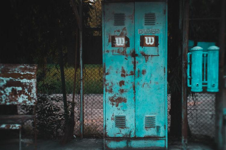 Open door of old abandoned building