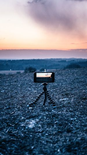 Recording Sunset British Weather Countryside Open Field Cold Sunset Urbanphotography 16x9 Timelapse EyeEm Selects Sky Sunset Scenics - Nature Horizon Beauty In Nature Tranquil Scene Tranquility Nature Cloud - Sky No People Outdoors