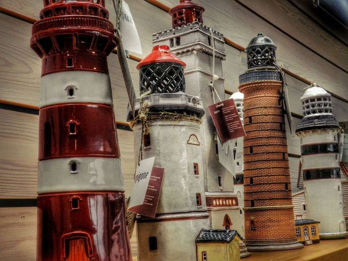 Lighthouse Lindesnes Norway Architecture Art And Craft Built Structure Close-up Communication Creativity Day Human Representation Indoors  Large Group Of Objects Low Angle View Metal No People Red Representation Text Wall - Building Feature Wood - Material