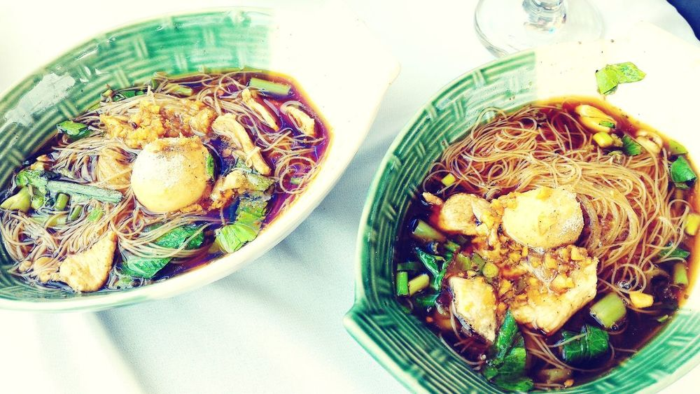 thai noodle Thai Noodle Noodle Soup Thainoodle Thai Noodle Style Noodle Directly Above High Angle View Bowl Food And Drink Easter First Eyeem Photo