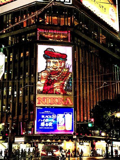 北海道・札幌旅行 PrayforHokkaido Night Lights Nightphotography Night NIKKA Whisky Sapporo Trip Photo Trip Susukino Hokkaido Japan Architecture Built Structure Representation Building Human Representation Building Exterior Illuminated Multi Colored
