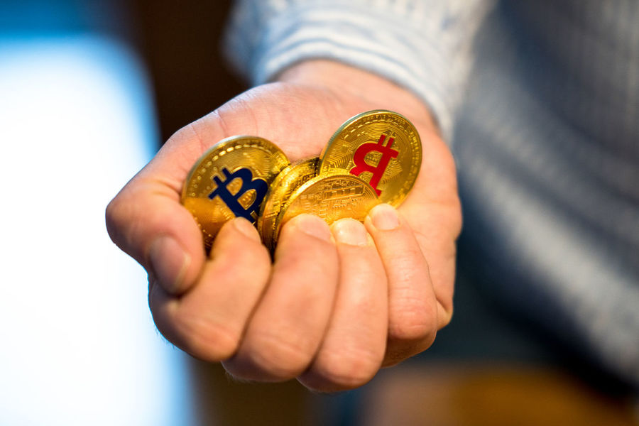 Berlin, Germany - March 15, 2018: Golden Bitcoins (new virtual money). Bitcoin is a cryptocurrency and worldwide payment system, the first decentralized digital currency BTC Business Currency Economy Virtual Banking Bitcoin Bitcoin Coin Bitcoins Blockchain Buy Cash Cryptocurrency Decentralized Digital Currency E-business Finance Financial Money Pay Payment Satoshi Savings Trade Transaction