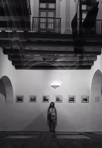 my beautiful Candela posing for me at my exhibition Joselines Mob Fiction Candela & Martina AMPt_community