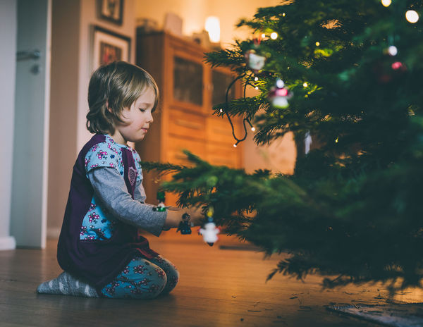 little girl decorating the christmas tree Christmas Sitting Tradition Tree Xmas Xmas Tree Christmas Decoration Christmas Decorations Christmas Tree Decoration Girl Little Girl One Girl Only One Person Real People
