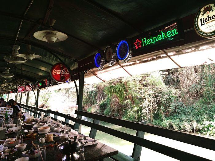 Built Structure Restaurant Decor Signboard Of Heineken Beer Signboards