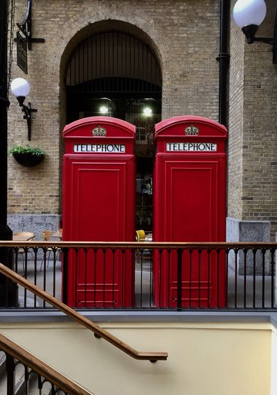 London Icon No Connection Tower Bridge  Arch Architecture Building Building Exterior Built Structure City Communication Connection Day History Lighting Equipment No People On Parade Outdoors Railing Red Telephone Telephone Booth Text The Past Western Script