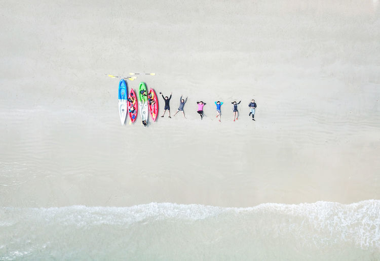 Group Of People Water Real People Waterfront Day Multi Colored Nature People Lifestyles Men Women Motion Adult Leisure Activity Group Sea Outdoors Beach Crowd Inflatable  My Best Photo