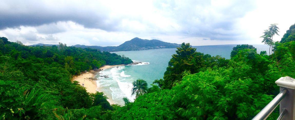 Panorama Taking Photos Thailand Phuket Landscape Beautiful