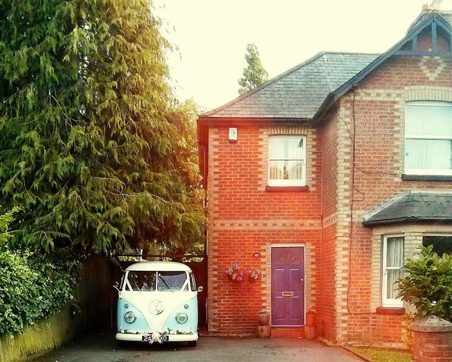 Just Married Built Structure England🇬🇧 Vintage Photo Houses And Windows Wimborne Mercedes-Benz