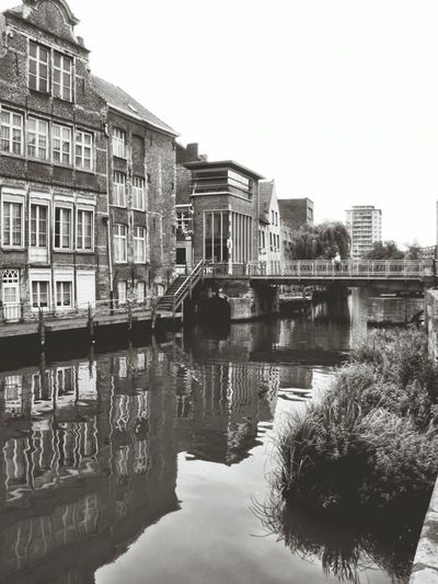 Ghent Cityscapes Black And White Water Architecture_bw The Architect - 2016 EyeEm Awards