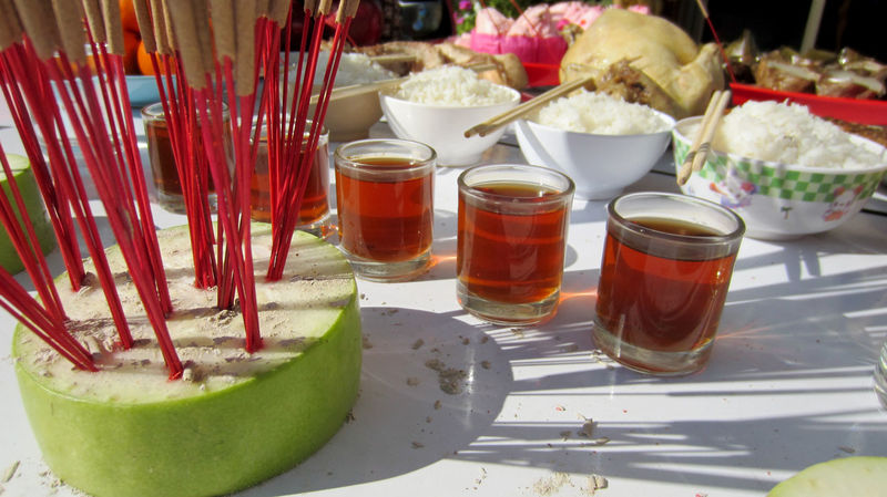 Spirit Festival Tea Ancestor Worship Day Drink Drinking Glass Food Food And Drink Ghost Festival No People Ready-to-eat Refreshment Rite Table