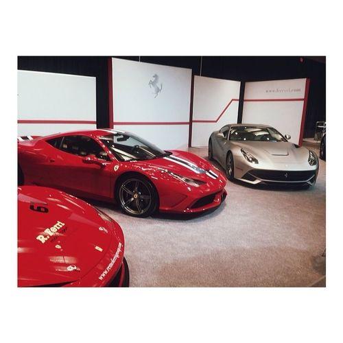 Three musketeers again!! Ferrari Cias Cias2014 Cars car carlovers torontoautoshow autoshow cias cias2014