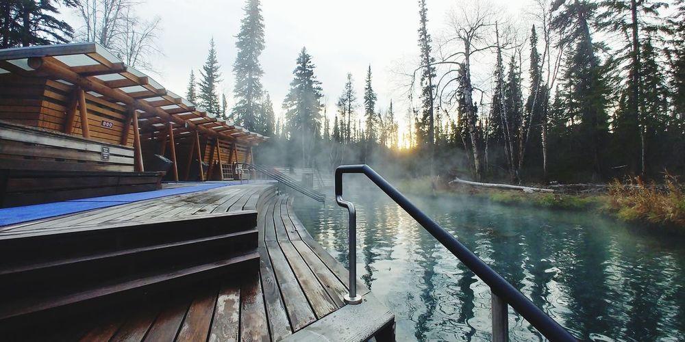Liard hot spring, british columbia, canada
