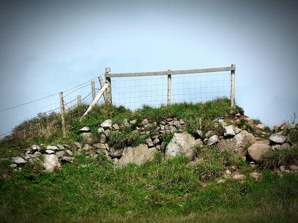 Photography No People Hillside Rocks Fencing grass Sky Freshness Scenics Landscape Rural Scene Tranquility