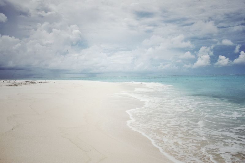 Sea Beach Sand Horizon Over Water Water Beauty In Nature Sky Shore Cloud - Sky Scenics Nature Tranquil Scene Tranquility No People Wave Outdoors Day Fiji Beauty Fidschi Fiji Islands Fiji Travel Destinations Vacations Tranquility Beauty In Nature