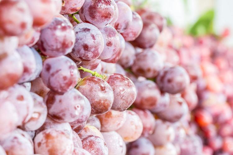 Full frame shot of grape for sale in market