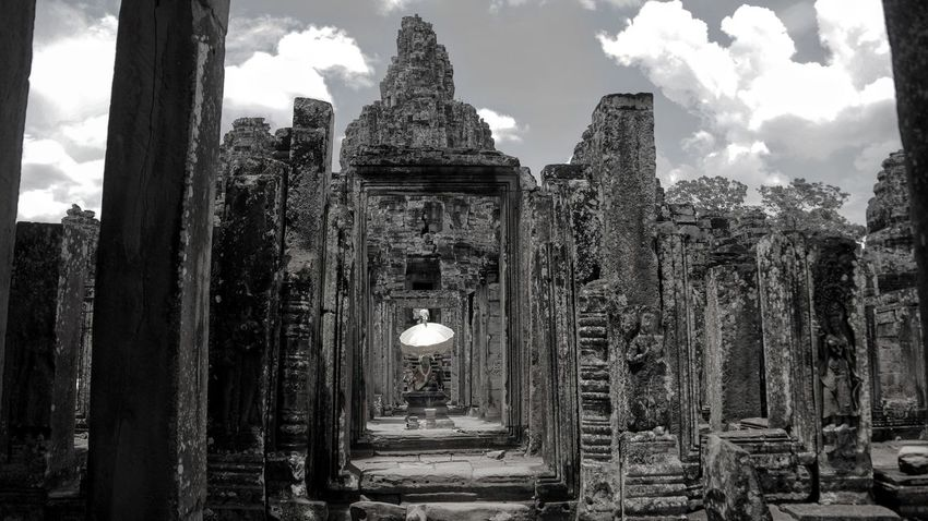 Ancient Angkor Angkor Wat Architectural Column Architecture Built Structure Cambodia Cloud Original Experiences Column Day History Nature No People Outdoors Siemreap Sky Temple - Building The Past Tourism Tranquility Travel Destinations UNESCO World Heritage Site World Heritage Feel The Journey