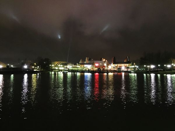 Lights of Disney Village Disney Iphone6plus Seine Et Marne 77 Disneyland Disneyland Paris Disneylandparis Disneyvillage IPhoneography Lights Reflection Lake Lac Paysage Landscape