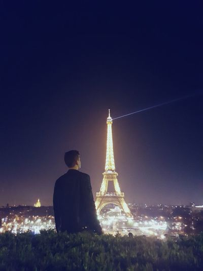 I am a lost boy from Neverland... Night Sky Eiffel Tower By Night Paris, France  Neverland WithMyFriends ❤️