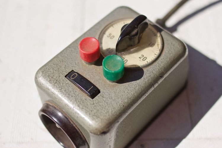 Close-Up Of Electrical Equipment On Table