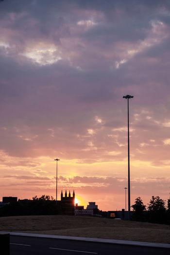 85mm Film City Cloud - Sky England Fujiflim Nature Silhouette Street Summer Sunset