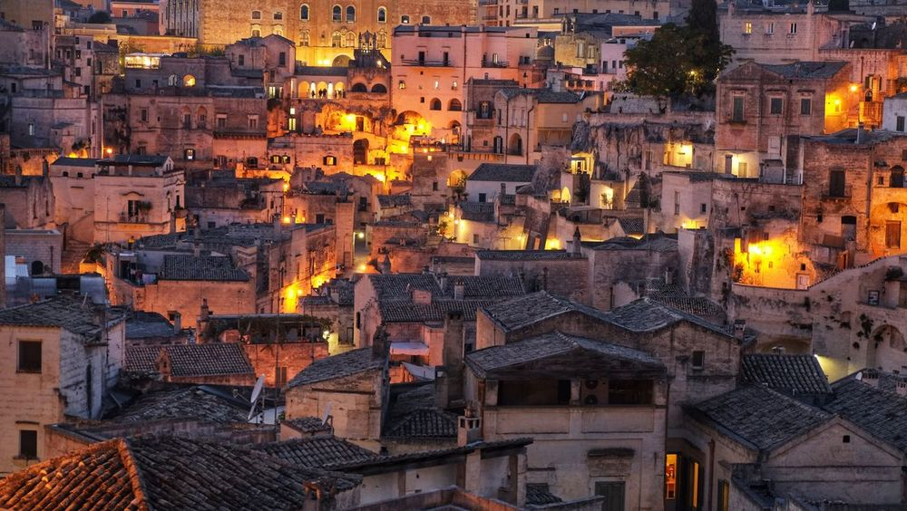 Architecture Building Exterior House Built Structure No People Outdoors Roof Town Night City Cityscape I Sassi Di Matera Matera Matera, Italy Matera - Capitale Della Cultura Sassi Di Matera Italy Italia Cityscape City