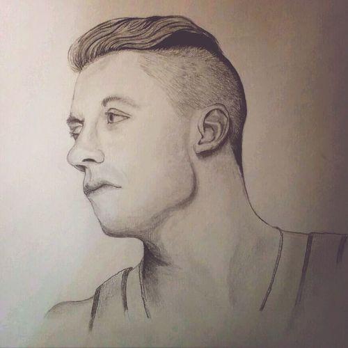 Macklemore Drawing ArtWork Hello World