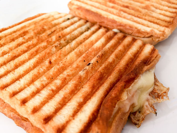 Bread Breakfast Brown Close-up Detail Focus On Foreground Food Indulgence No People Ready-to-eat Selective Focus Still Life Temptation Toasted Sandwich