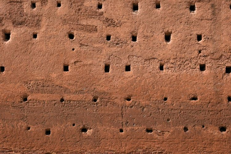 Morocco Rabat Ancient Architecture Backgrounds Brick Brown Building Exterior Built Structure Close-up Day Full Frame History Low Angle View No People Old Outdoors Sunlight Textured  The Past Travel Destinations Wall