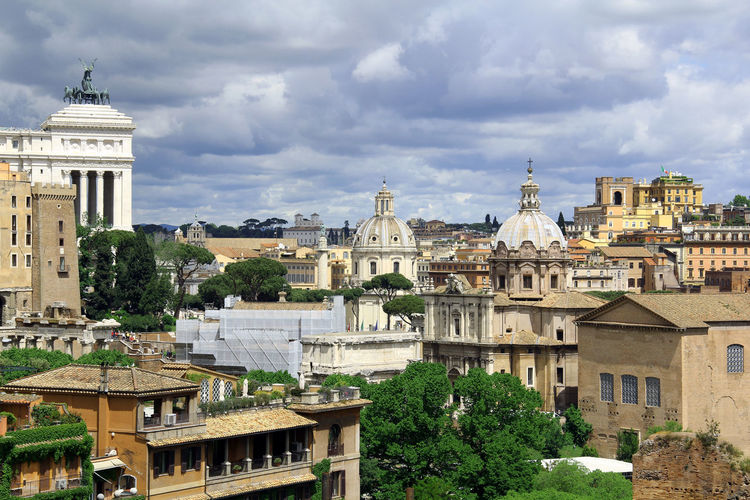 Skyline Rome Ancient Architecture Building Exterior Built Structure City City Cloud - Sky Day Dome History No People Outdoors Place Of Worship Religion Rome Sky Sky And Clouds Spirituality Travel Travel Destinations Tree