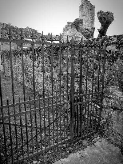 Old railings Rusty Railings Railings Rust Oradour Sur Glane Ruined Destroyed Bomb Damage Memorial