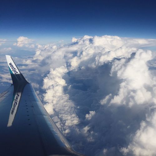 Back Home on Westjet Airplane Cloud - Sky Travel IPhoneography Mobileart