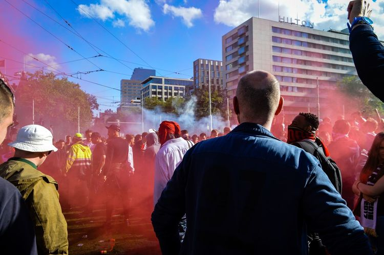 Feyenoord became a Champion! People City Crowd Large Group Of People Rear View Togetherness Sky Rotterdam, Netherlands Streetphotographer Rotterdam Streetphoto Street Photography Feyenoord Champions Excitement Outdoors Celebration Passion The Street Photographer - 2017 EyeEm Awards