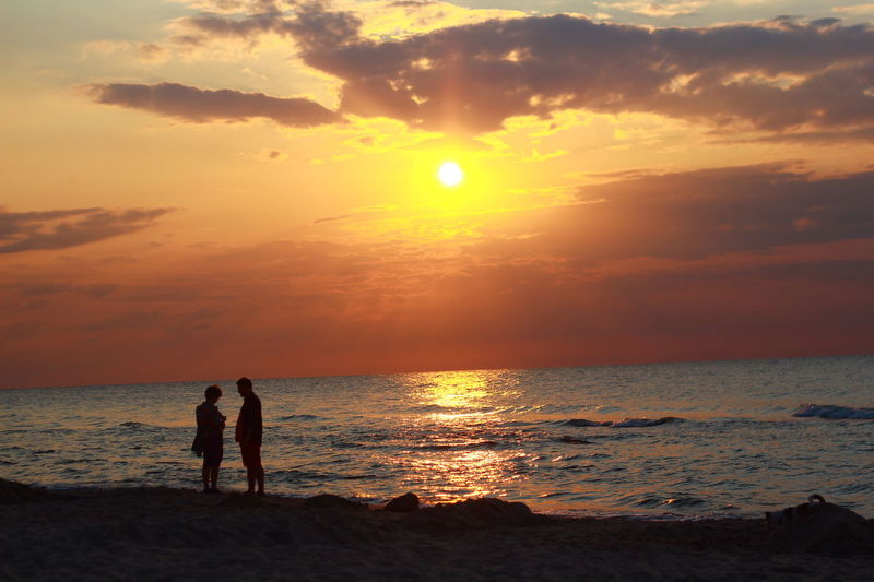Sunset Romantic Beach Sky Collection Beutiful  Nature_collection Landscape People