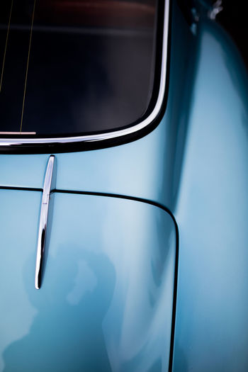 Close-up of car mirror