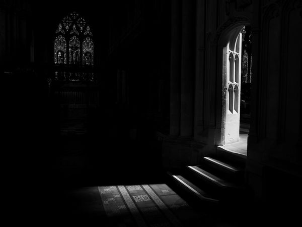 Dark Church Church Dark Dark Places Darkness Doorway Lights Inside Church Stained Glass Steps Dark Place Darkness And Light Door Doorway Doorways Indoors  No People Religion Steps And Staircases Steps In To The Light