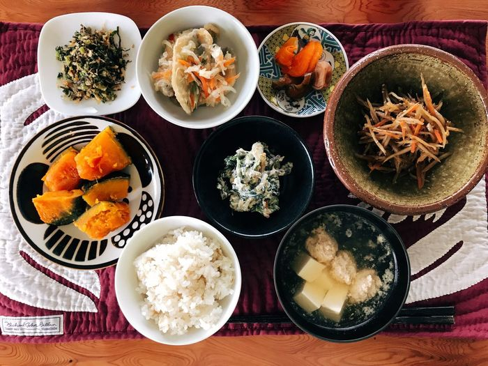 Japanese meal.