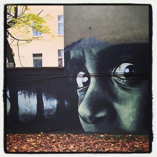 Graffiti People Watching Kaliningrad RussiaKaliningrad