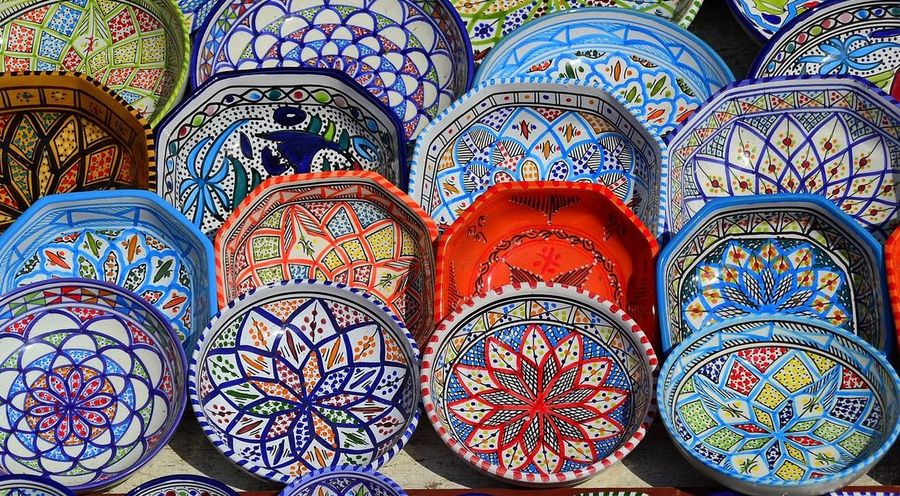 Mytunisia Beautiful Pottery Colors Art Design Nabeul