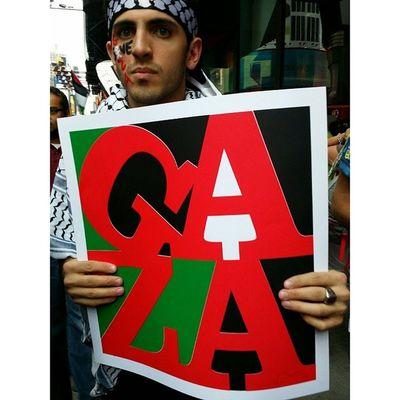 A protestor at Alquds Freegaza rally in Times Square Freepalestine Nyc4gaza Gaza
