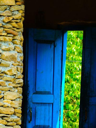 Light and Shadow.... Blue Door Built Structure No People