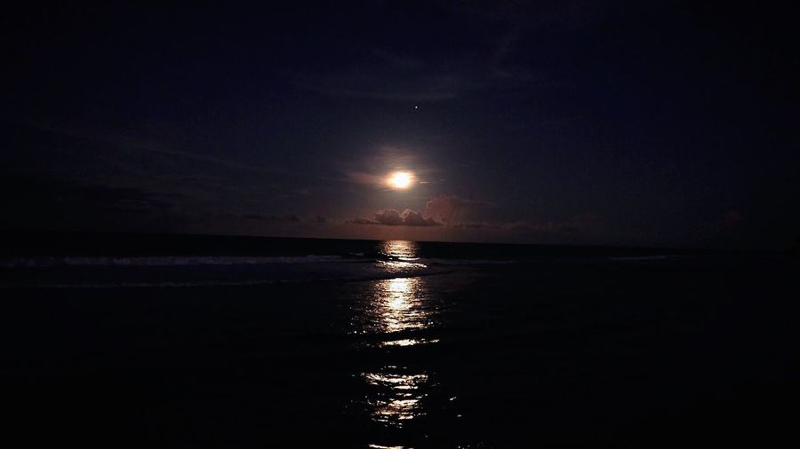 Itsmorefuninthephilippines Philippines Siargao Cloud 9 Full Moon Leicacamera Beach Ocean Night Moon Nature Beauty In Nature Sky Reflection Sea Leica D-Lux Art Is Everywhere Perspectives On Nature