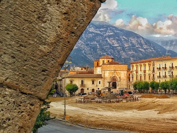 Under Construction... Piazza Maggiore Sulmona Abruzzo - Italy Giostra Cavalleresca Sulmona Medioeval Event Lovely Town  Lovely Place Place Small City Preparing For An Event Showcase July On The Way