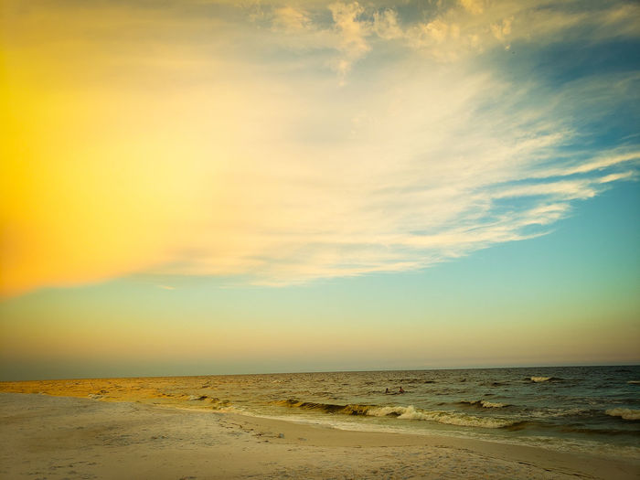 Oceanside Ocean View Sand Dune Desert Beach Sunset Sand Arid Climate Summer Water Sky Landscape Seascape Coast Horizon Over Water Ocean Romantic Sky Low Tide View Into Land Tide Wave Rippled Dramatic Sky Calm