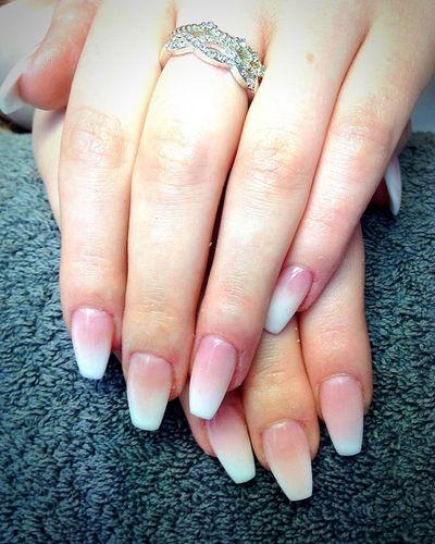 My new nails 😍💖 im in love 👌. Taking Photos Acrylic Nails Nailart  Babyboomer Long Nails Beautiful Fresh Produce Jewelry My Hand  Nailgame Nails On Fleek Love