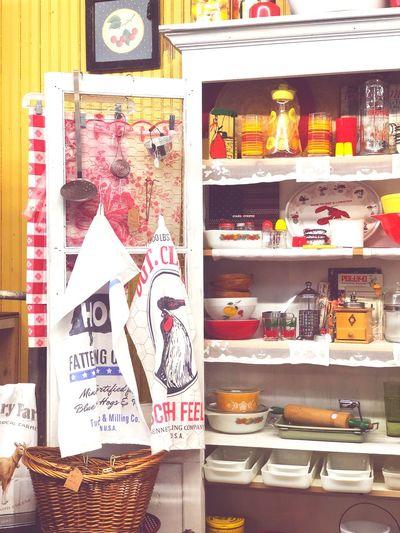 Design Retro Antique Kitchen Shelf Store Retail Display Multi Colored