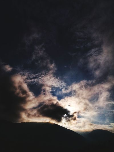 Cross is the way to salvation Leica Huawei EyeEmNewHere Nature Cloud - Sky Sunset Night Beauty In Nature Sky No People Silhouette Scenics Landscape Power In Nature Outdoors Tranquility